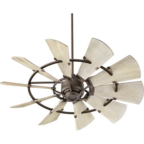 Quorum International Windmill Oiled Bronze  52-Inch Ceiling Fan