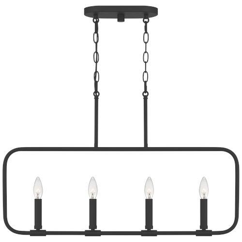 Abner Matte Black Four-Light Chandelier