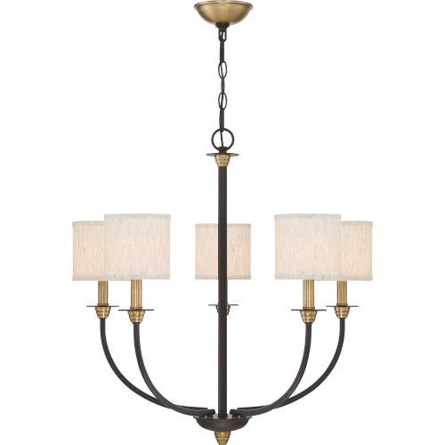 Audley Old Bronze Five-Light Chandelier