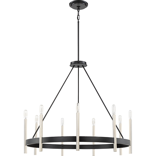 Anthem Mystic Black Nine-Light Chandelier