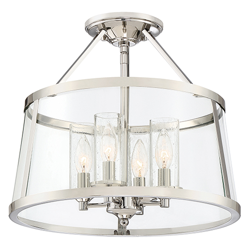 Barlow Polished Nickel Four-Light Semi Flush Mount
