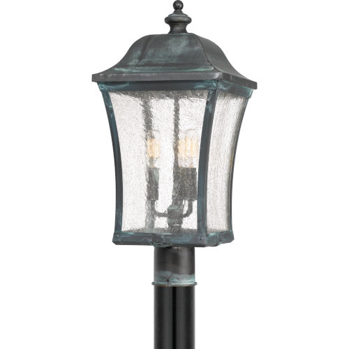 Bardstown Aged Verde Three-Light Outdoor Post Mount