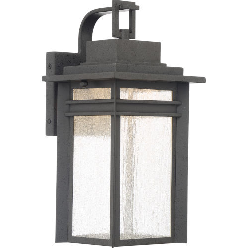 Beacon 14-Inch Stone Black LED Outdoor Wall Sconce