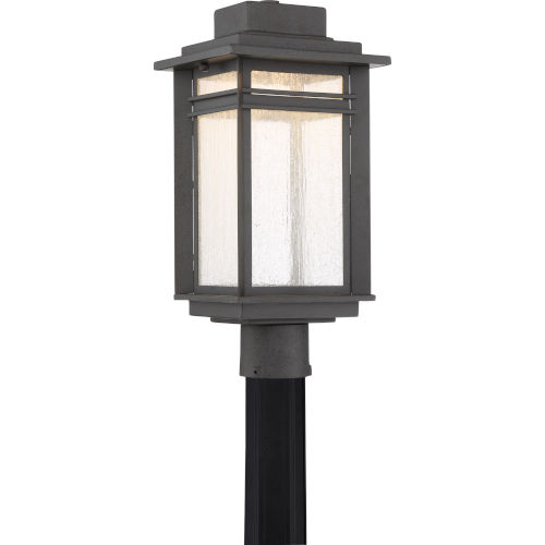 Beacon Stone Black LED Outdoor Post