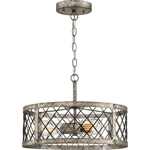 Quoizel Booth Rustic Gold Three-Light Convertible Pendant