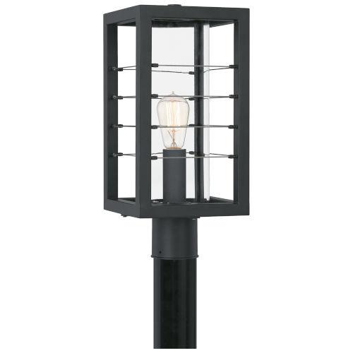 Bimini Earth Black One-Light Outdoor Post