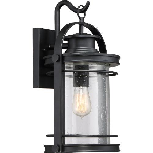 Booker Mystic Black 11-Inch One-Light Outdoor Wall Lantern