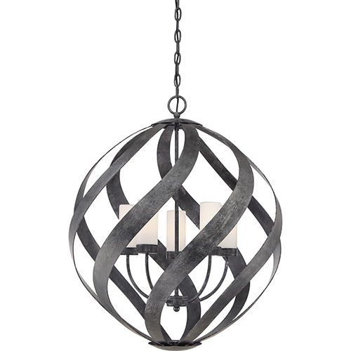 Quoizel Blacksmith Old Black Finish Five-Light Pendant