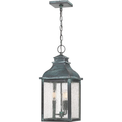 Branson Aged Verde Three-Light Outdoor Pendant