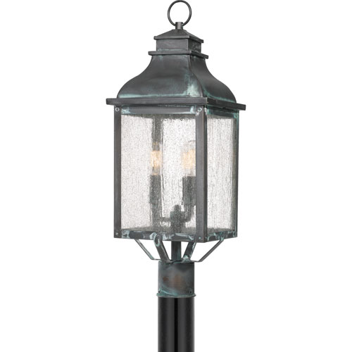 Branson Aged Verde Three-Light Outdoor Post Mount