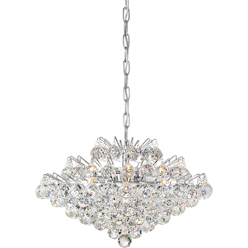 Quoizel Bordeaux With Clear Crystal Polished Chrome Seven-Light Pendant