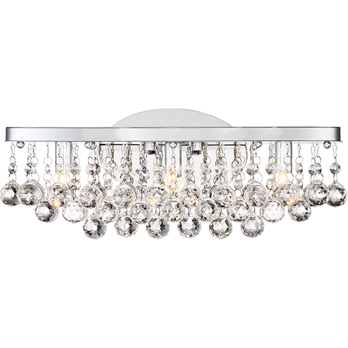 Quoizel Bordeaux With Clear Crystal Polished Chrome 17-Inch LED Bath Vanity