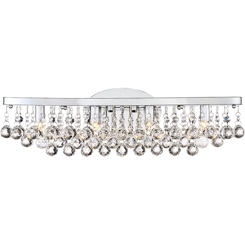 Quoizel Bordeaux With Clear Crystal Polished Chrome 23-Inch LED Bath Vanity