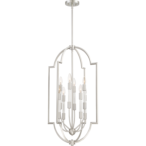 Quoizel Chapel Brushed Nickel Eight-Light Pendant