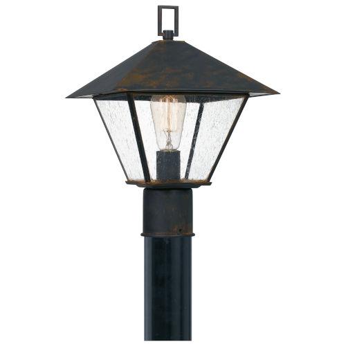 Corporal Industrial Bronze One-Light Outdoor Post