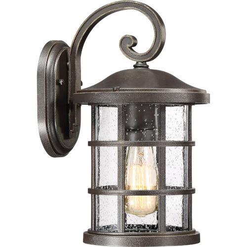 Crusade Palladian Bronze 8-Inch One-Light Outdoor Wall Lantern
