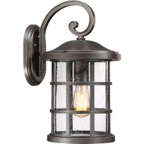 Crusade Palladian Bronze 10-Inch One-Light Outdoor Wall Lantern