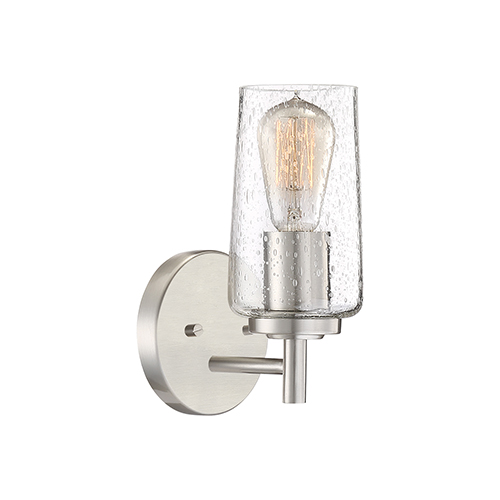 Quoizel Edison Brushed Nickel One-Light Bath Sconce