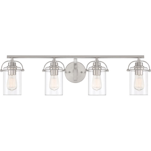Emerson Brushed Nickel Four-Light Bath Vanity
