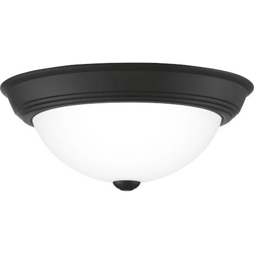 Erwin Matte Black 13-Inch Two-Light Flush Mount
