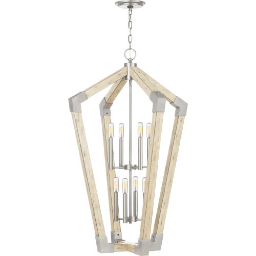 Fable Antique Nickel Eight-Light Chandelier
