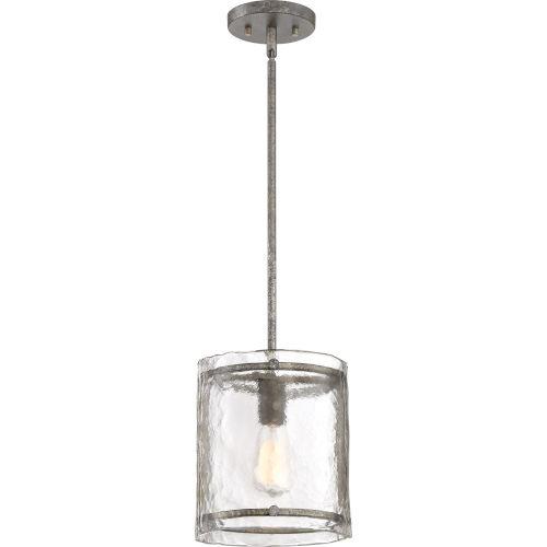 Fortress Mottled Silver One-Light Mini Pendant