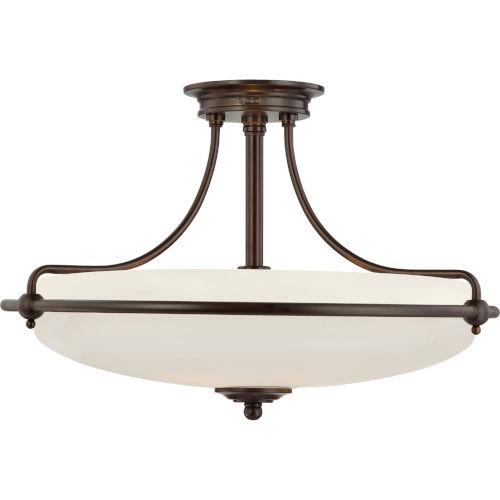 Griffin Palladian Bronze Four-Light Semi-Flush
