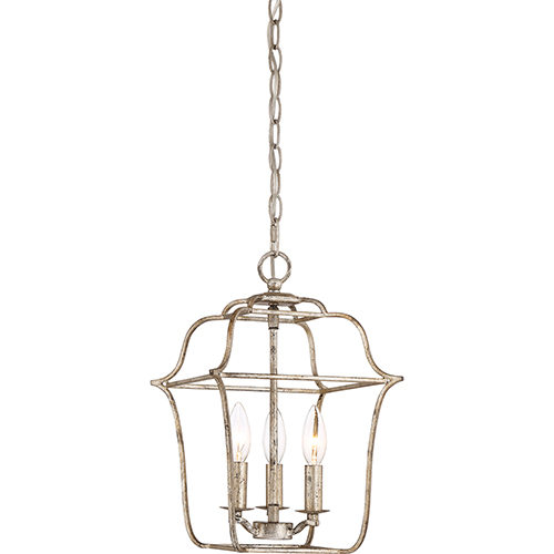 Gallery Century Silver Leaf Three-Light Pendant