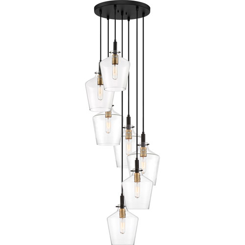June Earth Black 20-Inch Seven-Light Pendant