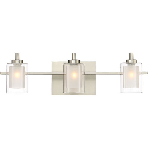 Kolt Brushed Nickel LED Three-Light Bath Light