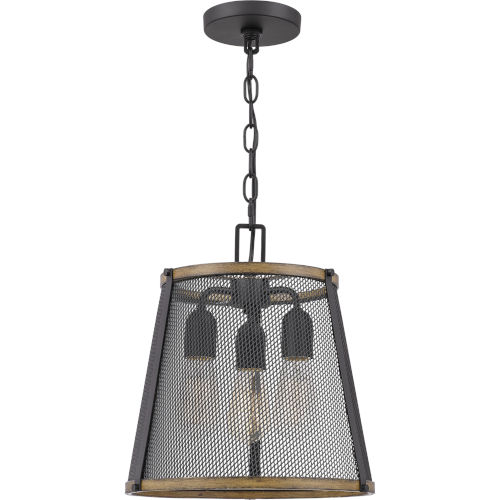 Lindstrom Matte Black Three-Light Mini Pendant