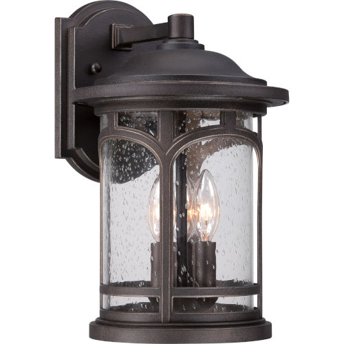 Marblehead Palladian Bronze 14.5-Inch Height Three-Light Outdoor Wall Mounted