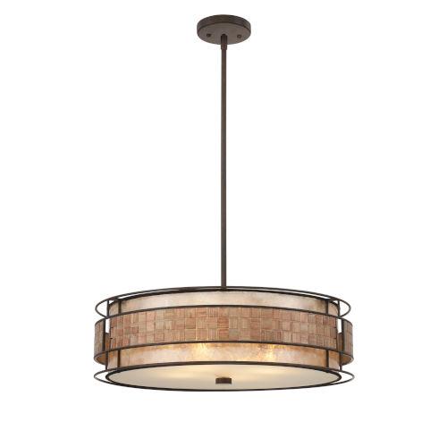 Mica Renaissance Copper Four-Light Pendant