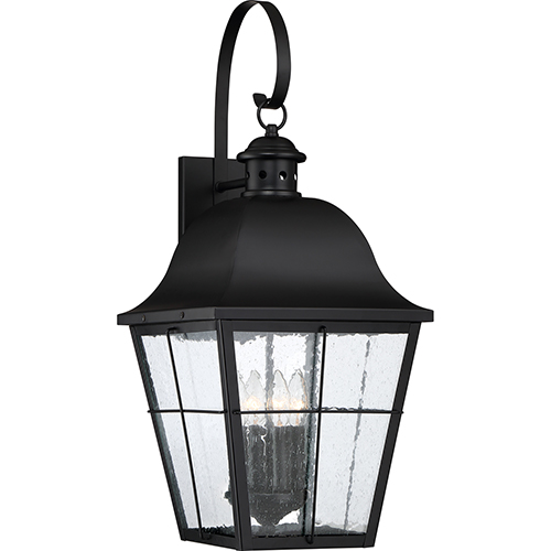 Quoizel Millhouse Mystic Black Four-Light Outdoor Wall Sconce