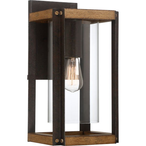 Marion Square Rustic Black 16-Inch One-Light Outdoor Lantern with Clear Glass