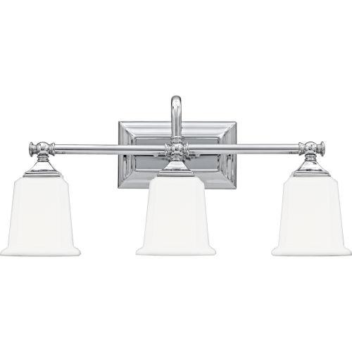 Nicholas Polished Chrome Three-Light Bath Light