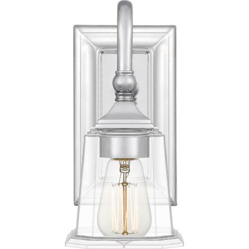 Nicholas Polished Chrome One-Light Wall Sconce with Clear Glass