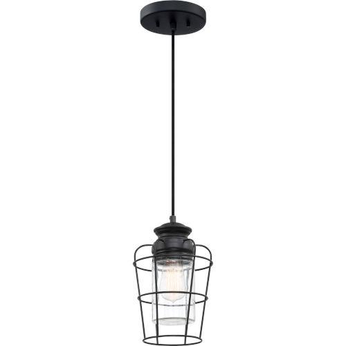 Olson Earth Black One-Light Mini Pendant