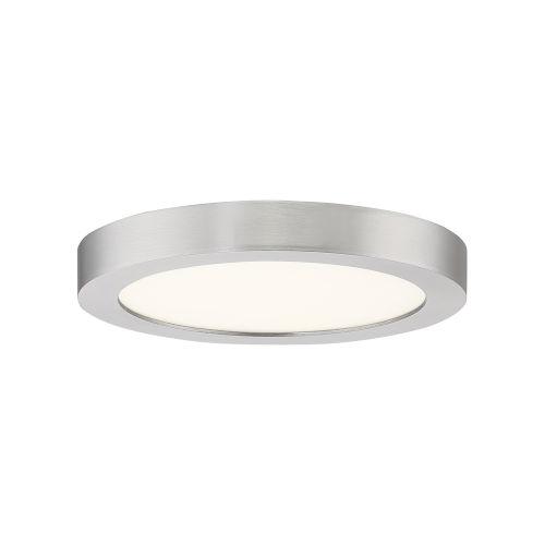 Outskirt Brushed Nickel Eight-Inch LED Flush Mount