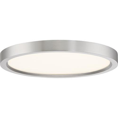 Outskirt Brushed Nickel 11-Inch LED Flush Mount