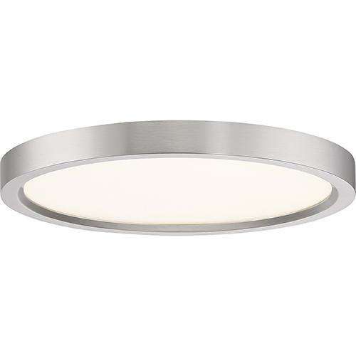 Quoizel Outskirt Brushed Nickel 11-Inch LED Flush Mount