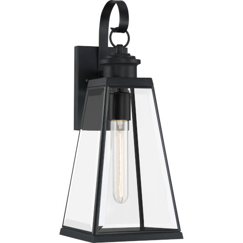 Paxton Matte Black Seven-Inch One-Light Outdoor Wall Sconce
