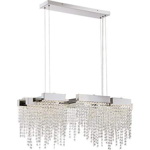 Quoizel Platinum Collection Crystal Falls Polished Nickel LED Linear Pendant