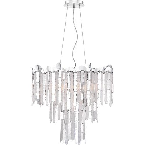 Quoizel Platinum Collection Daybreak Polished Chrome Seven-Light Chandelier