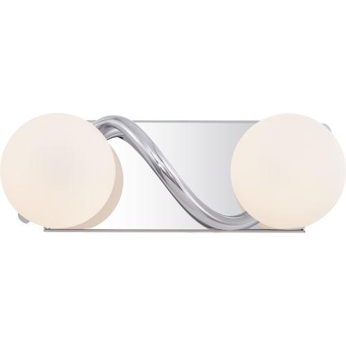 Essence Polished Chrome Two-Light LED Bath Vanity