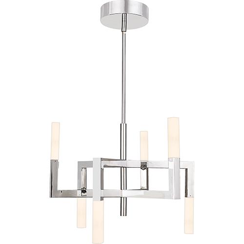 Platinum Collection Elevation Polished Chrome LED Chandelier