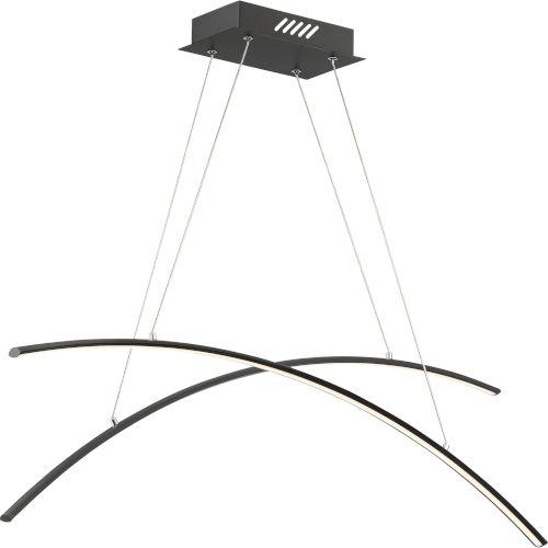 Platinum Collection Fanfare Earth Black LED Linear Pendant