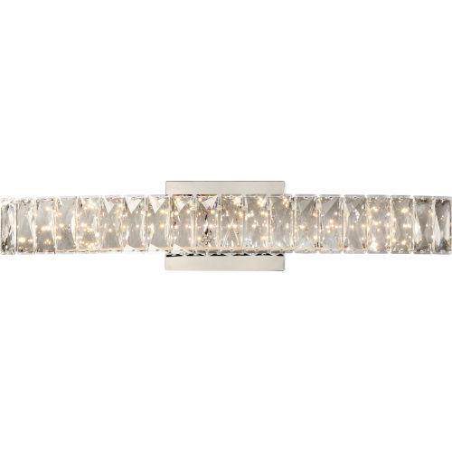 Platinum Collection Gala 24-Inch Polished Chrome Integrated LED Bath Light