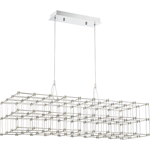 Quoizel Platinum Collection Labyrinth Polished Chrome LED Linear Pendant