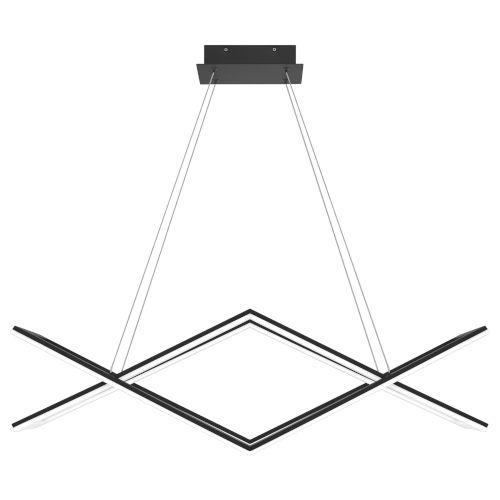 Newman Matte Black LED Chandelier
